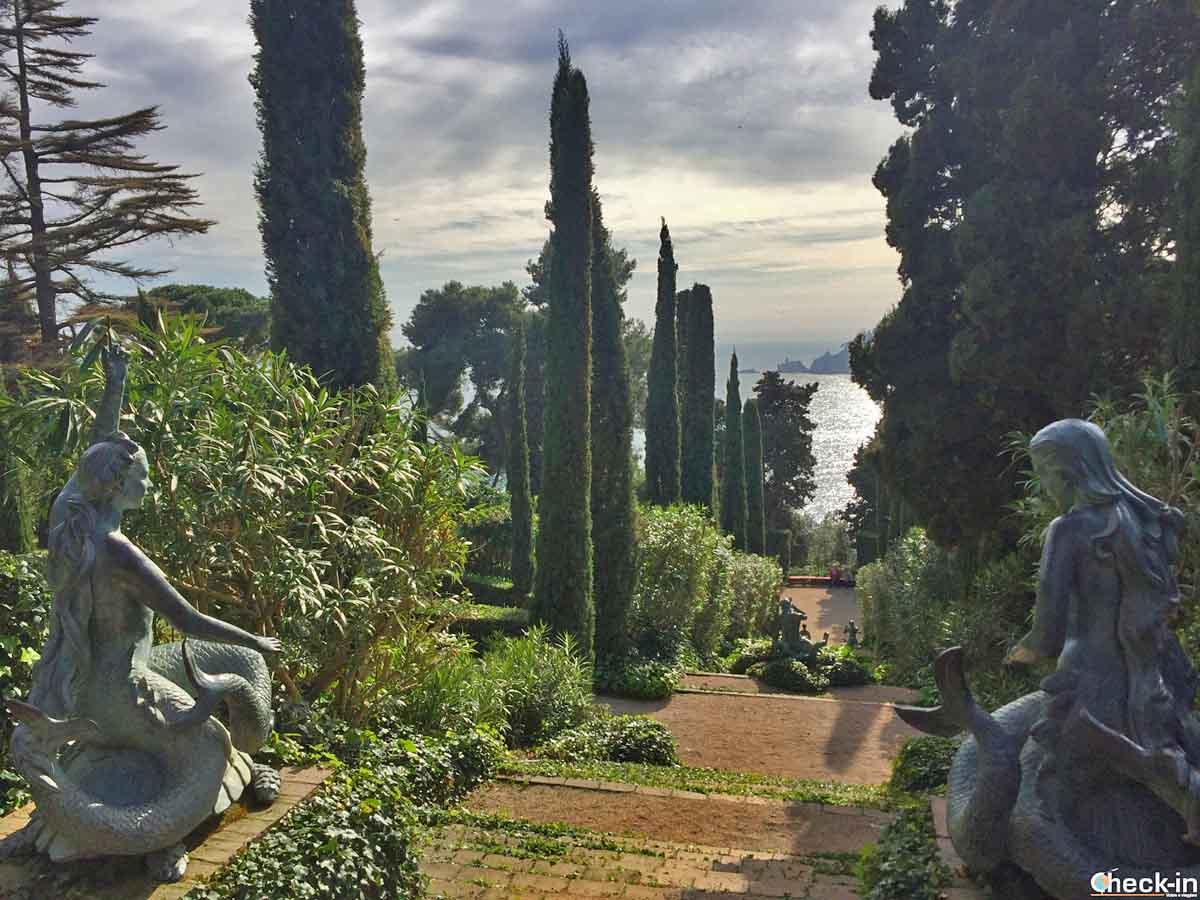Tutta la meraviglia dei giardini di S. Clotile di Lloret de Mar in una foto