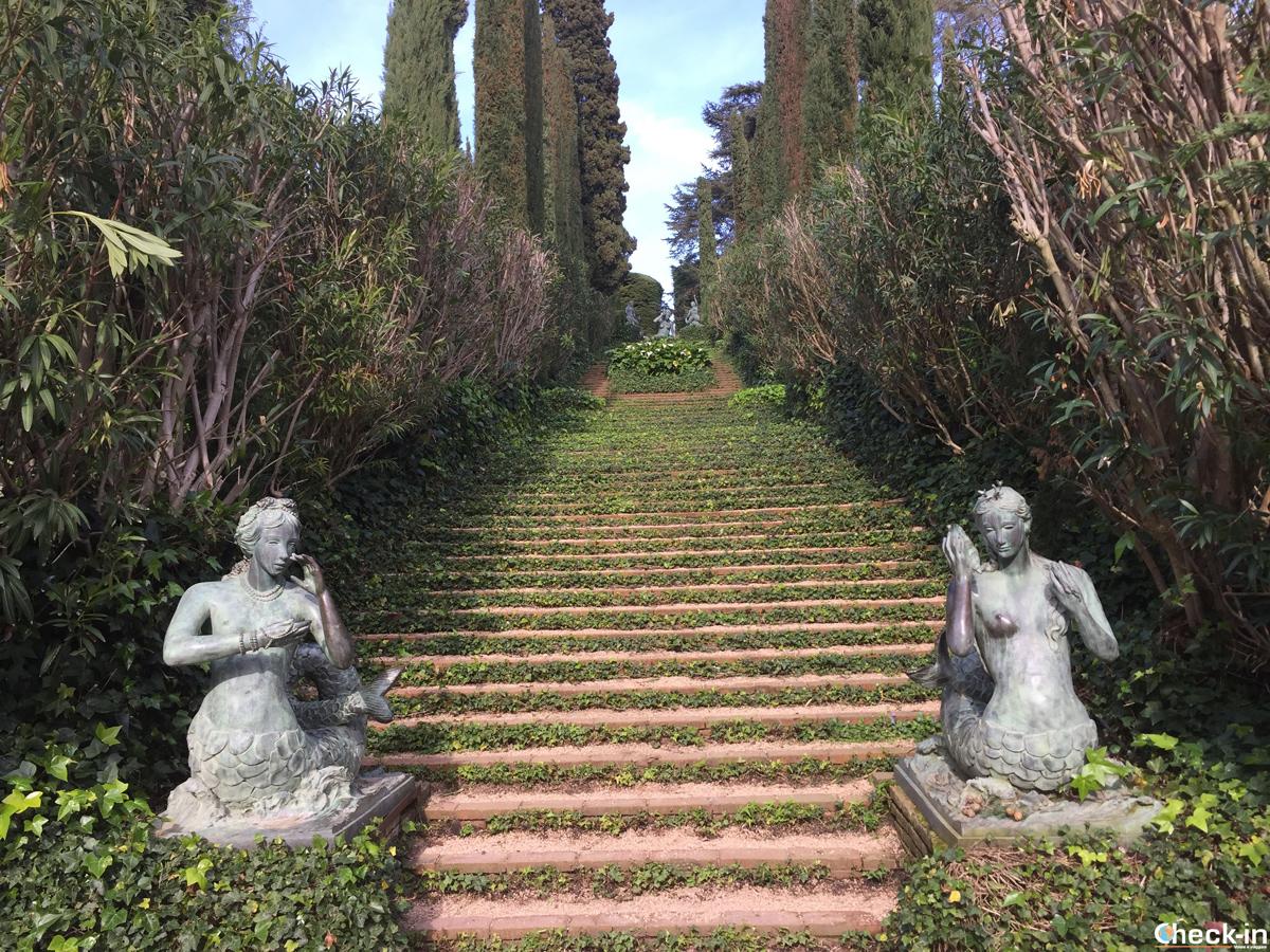 Scalinata d'edera ai giardini di S. Clotilde di Lloret de Mar