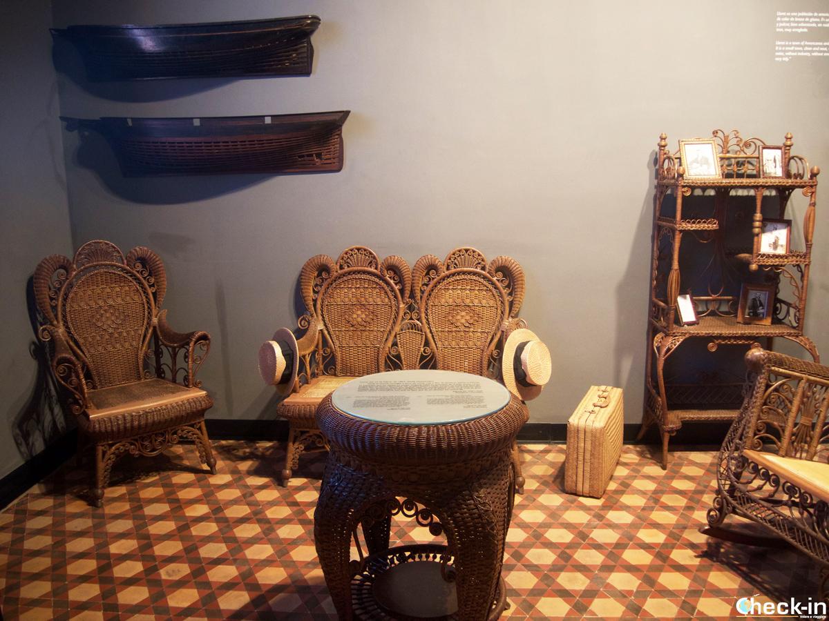 Arredamento di una casa di fine '800 dentro al Museo del Mar di Lloret de Mar
