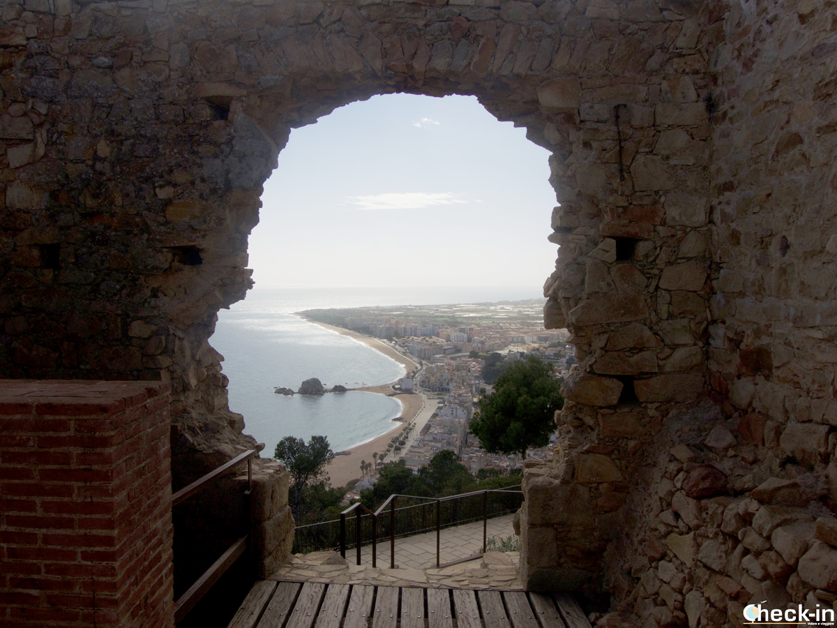 Panorama dal Castell de Sant Joan di Blanes