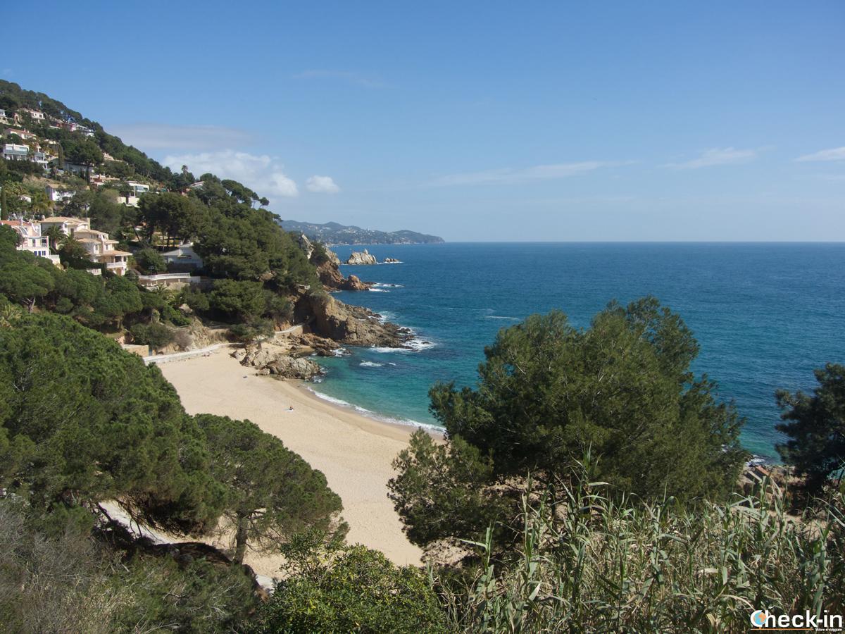 La platja de Sant Francesc di Blanes, Costa Brava