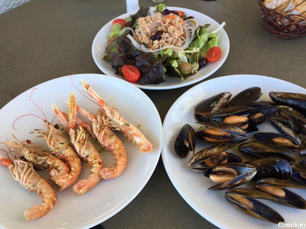 Mix di pesce al Ristorante Sa Malica di Blanes, Costa Brava