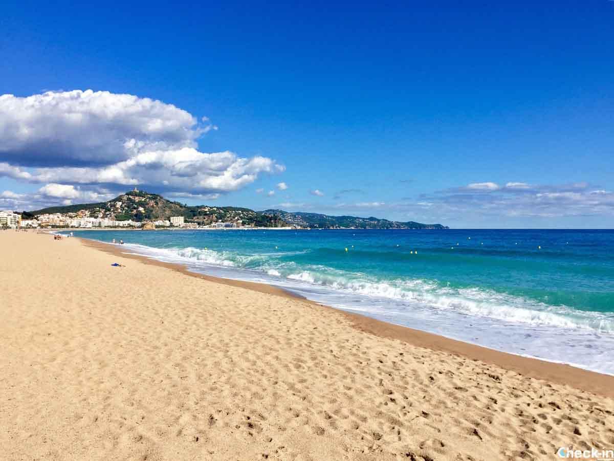 La spiaggia S'Abanell di Blanes, Costa Brava