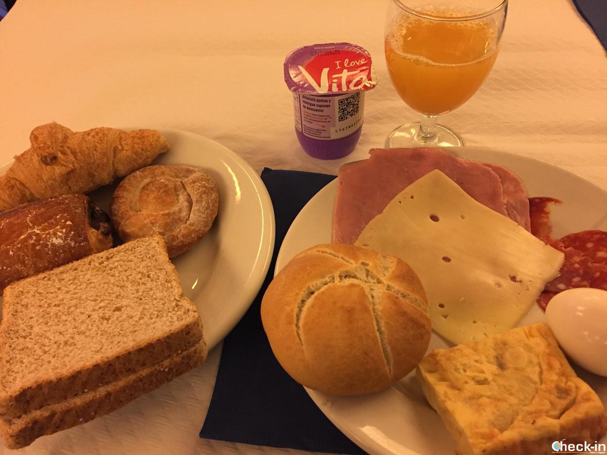 Colazione a buffet all'Hotel Costa Brava di Blanes