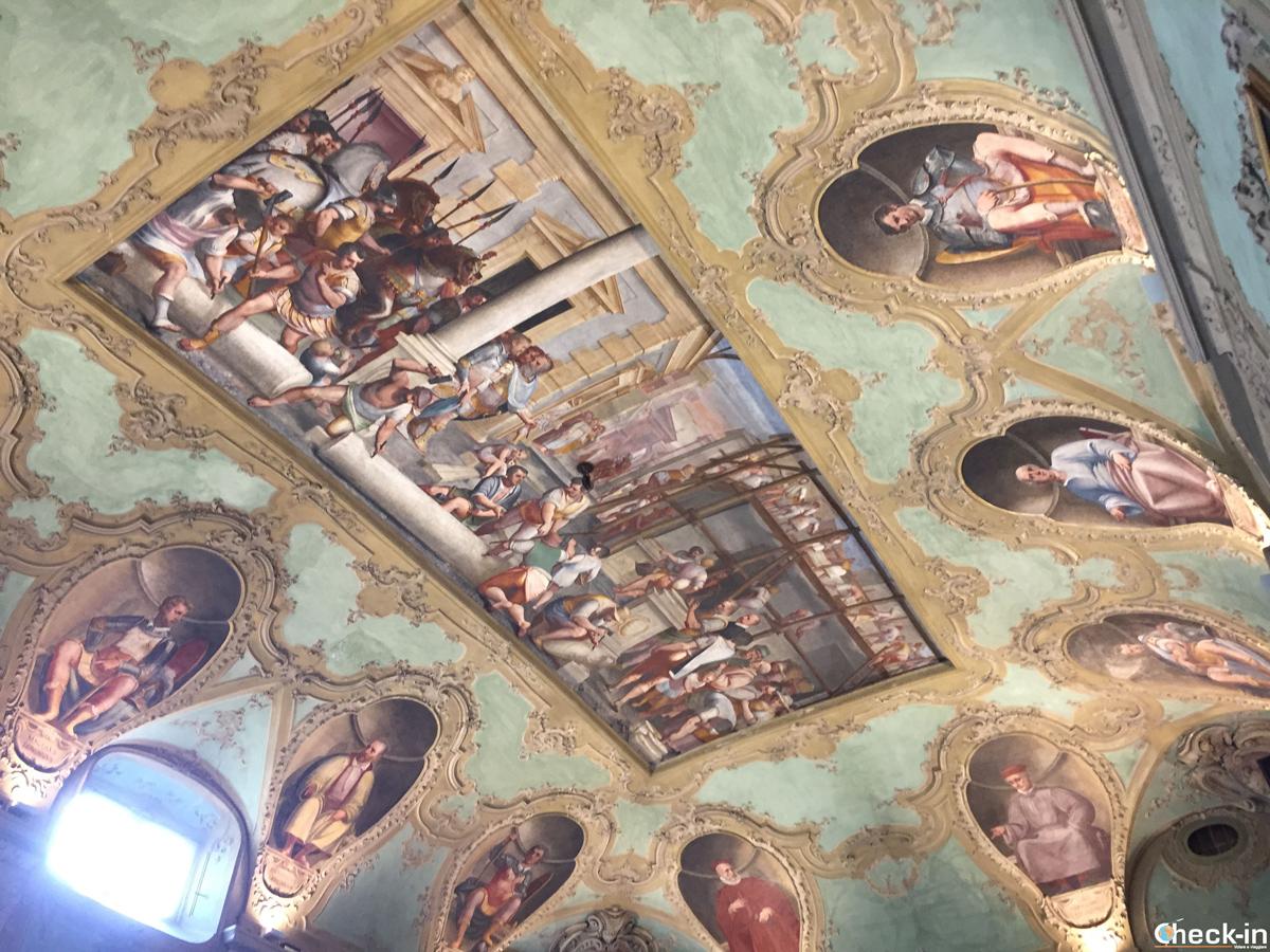 Affresco nel soffitto di Palazzo Franco Lercari di Genova