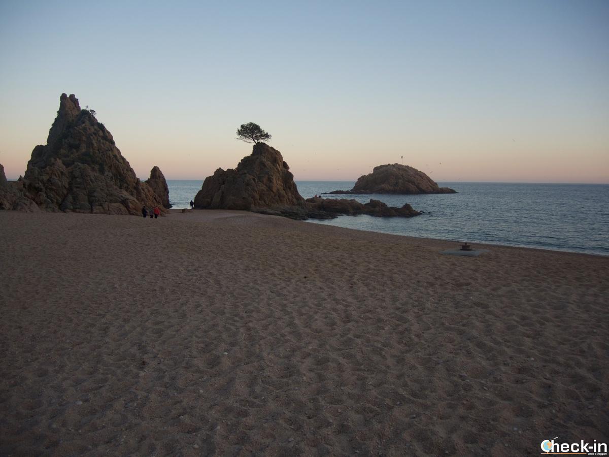 Platja de la Mar Menuda di Tossa de Mar, Costa Brava