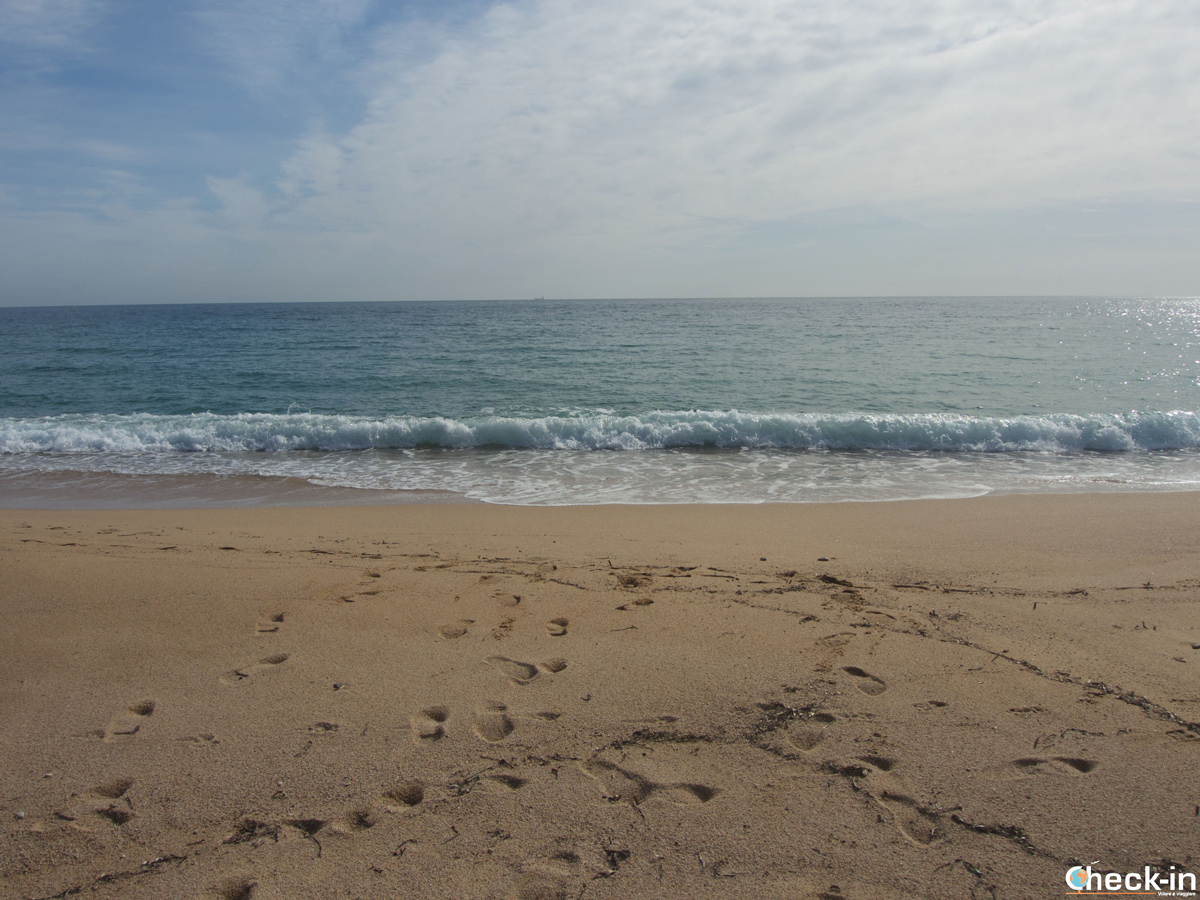 Playa de Canyelles en Lloret de Mar, España