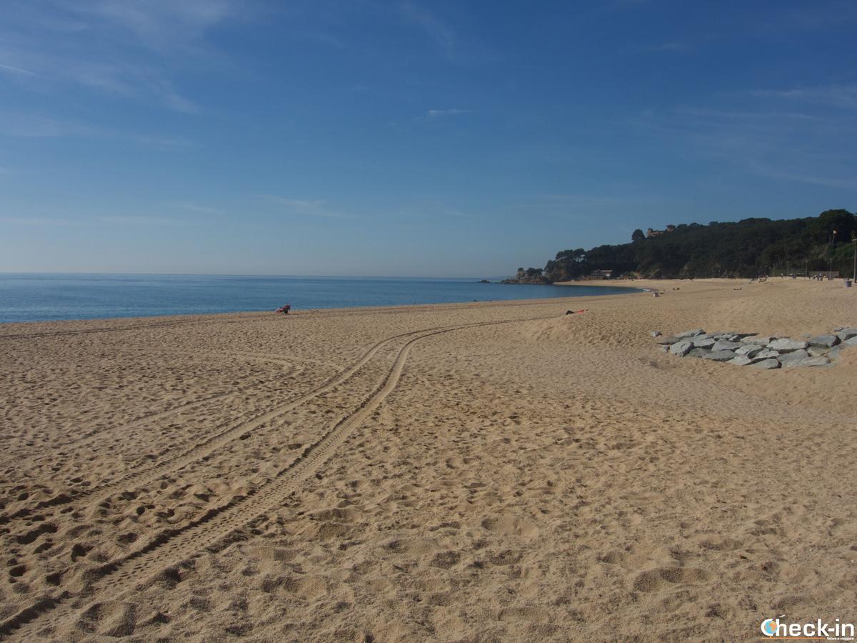 Playa de Fenals en Lloret de Mar, España