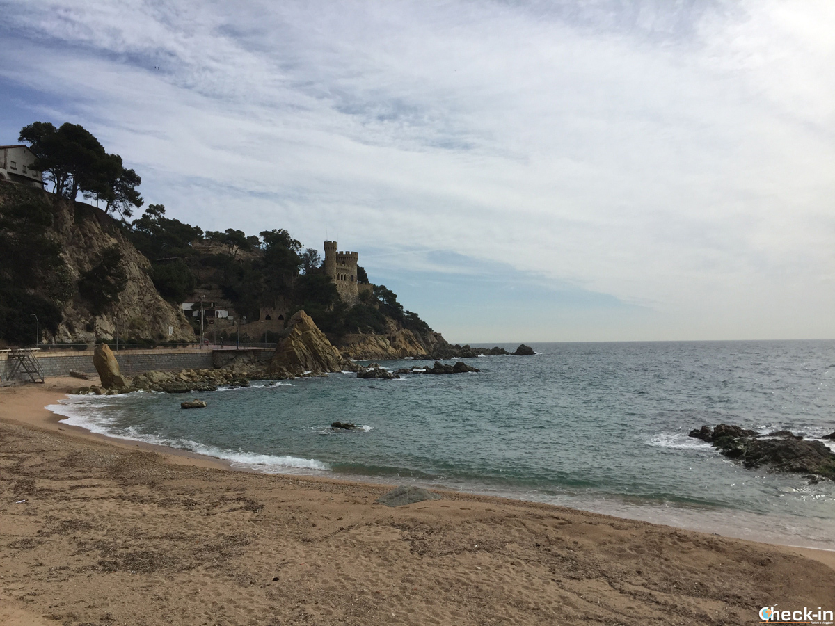 La playa principal de Lloret de Mar en España