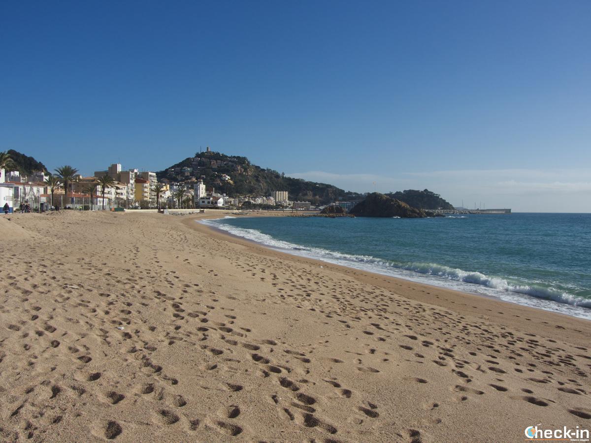 Playa S'Abanell en Blanes, España