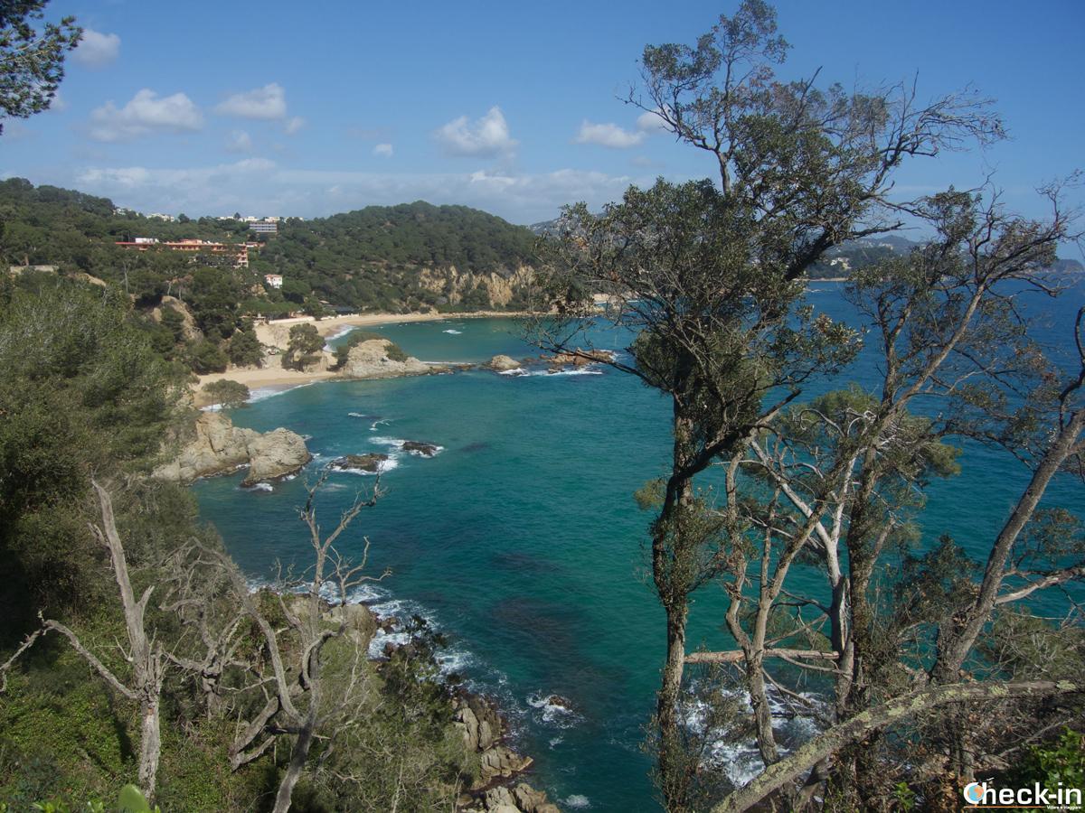Treumal, última playa de Blanes antes del municipio de Lloret de Mar