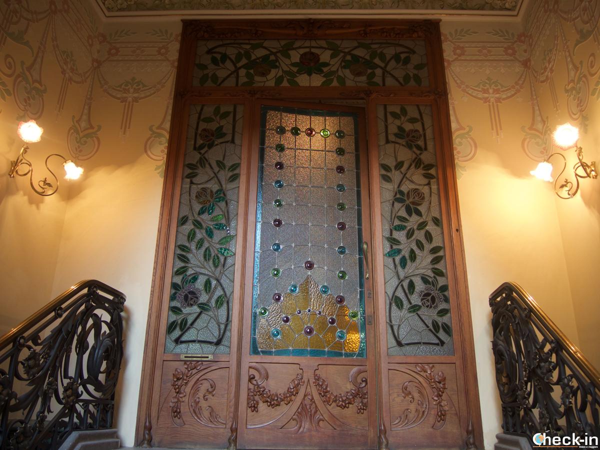 Entrada a Can Font, casa-museo en Lloret de Mar, España