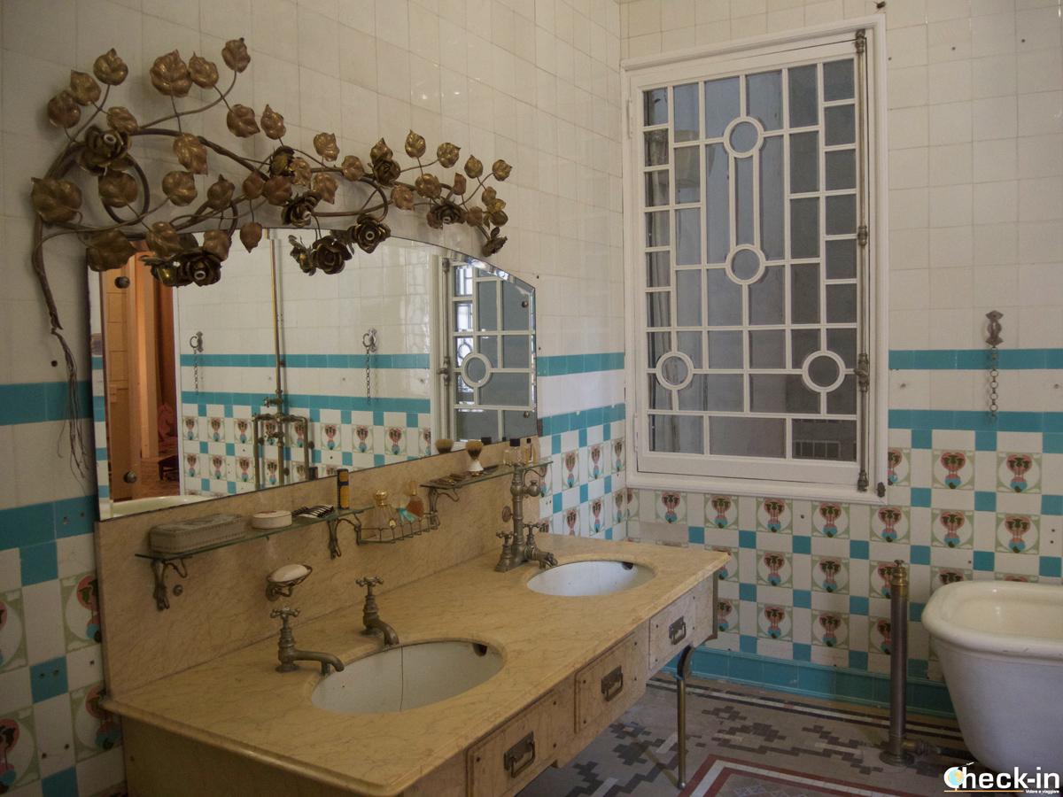 Baño decorado en Can Font - Lloret de Mar, España