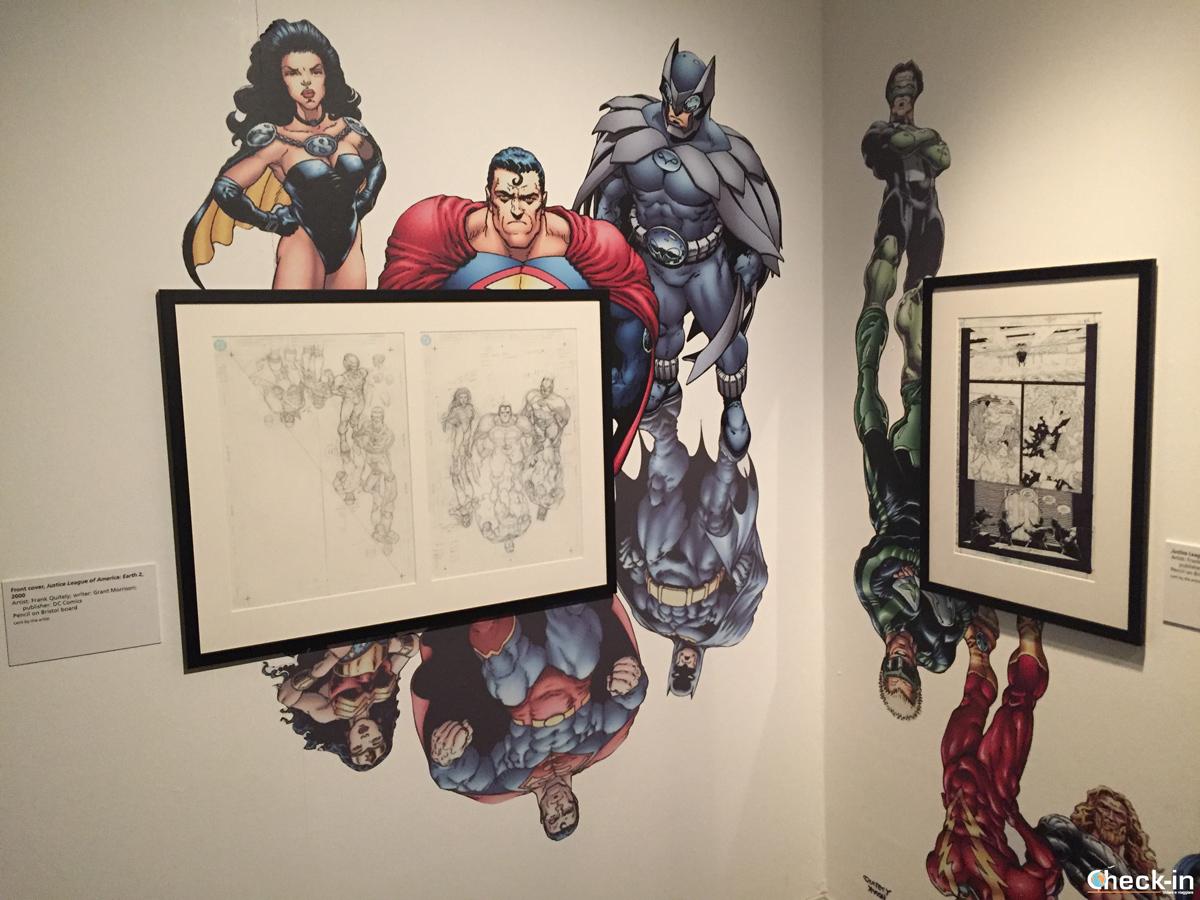 """The art of Comics"" by Frank Quitely al Kelvingrove Museum di Glasgow, Scozia"