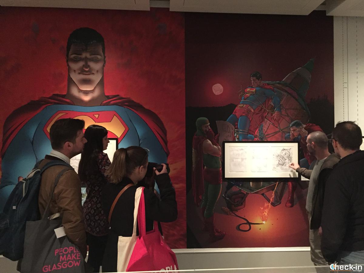 "Visita di ""Art of Comics"" al Kelvingrove Museum di Glasgow con Frank Quitely"