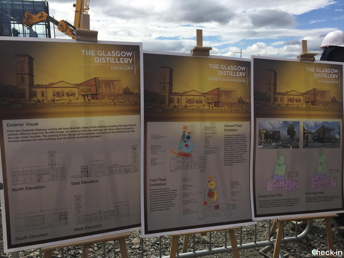 Work in progress per la costruzione della Clydeside Distillery a Glasgow