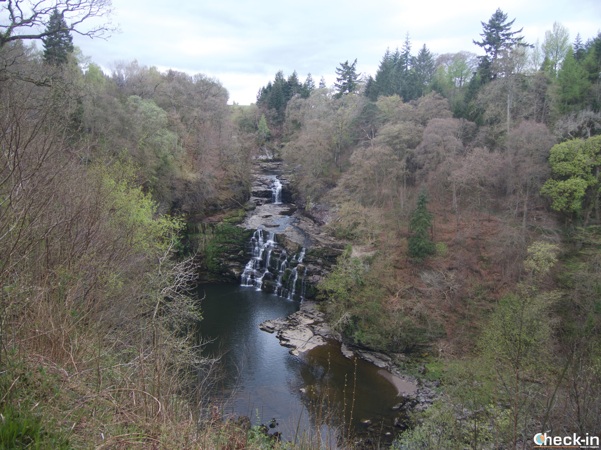 The Corra Linn in the Falls of Clyde, Scotland