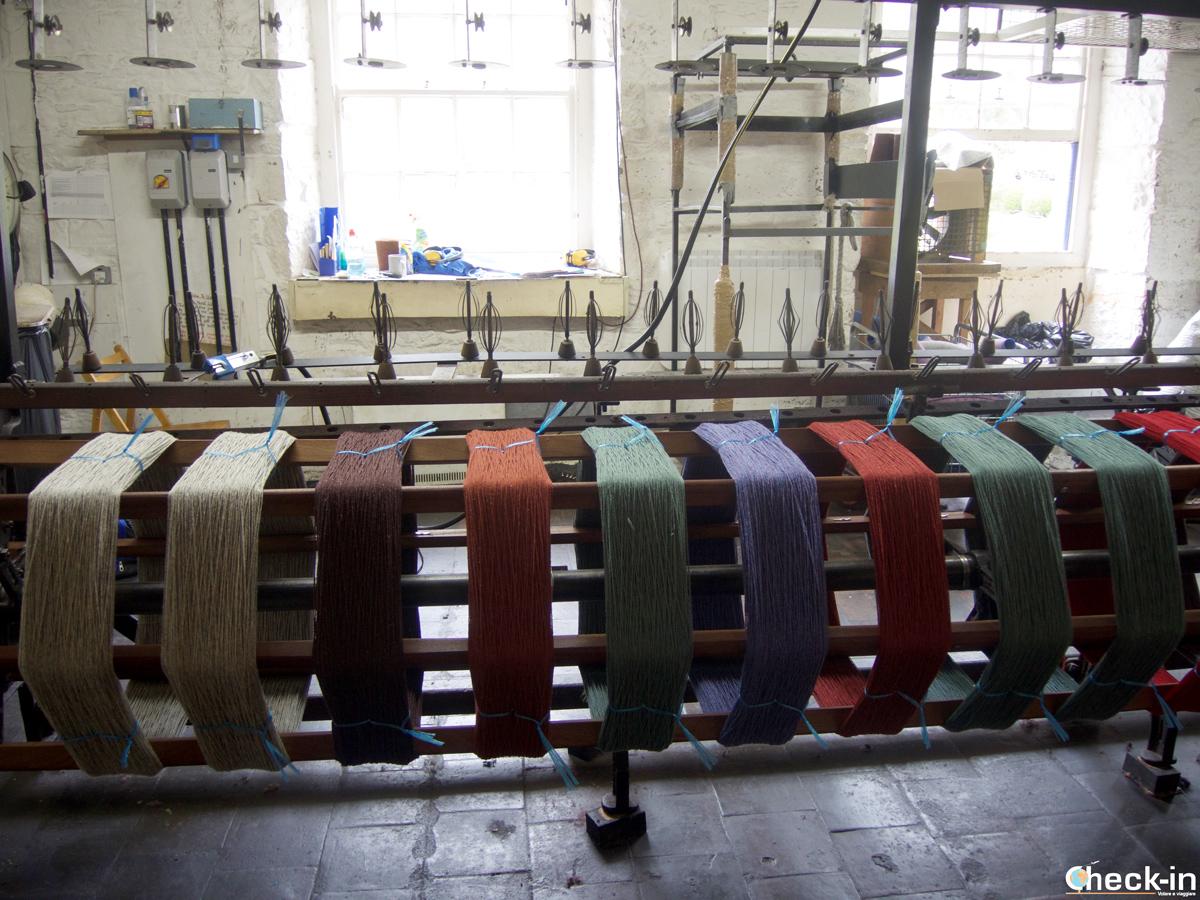 Le macchine per filare la lana a New Lanark, Scozia