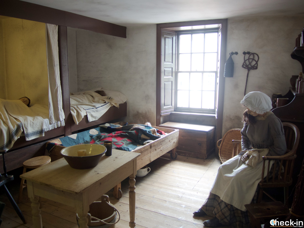 A typical Millworkers' House in New Lanark during the 1820s