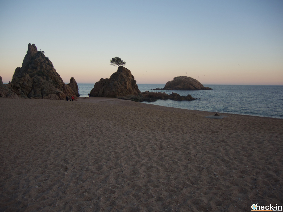 Playa de Mar Menuda en Tossa de Mar, España