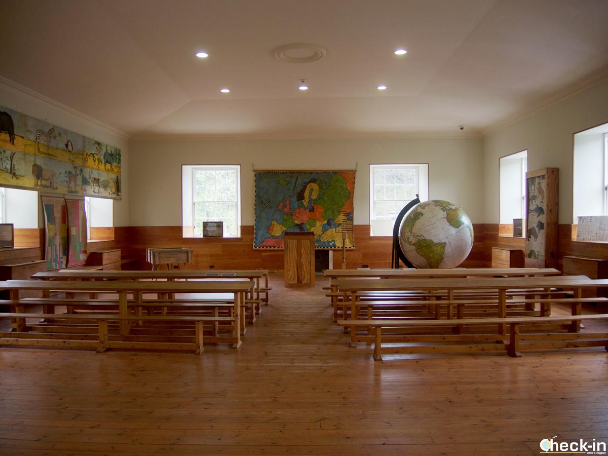 Ricostruzione della classe della scuola dell'infanzia di New Lanark