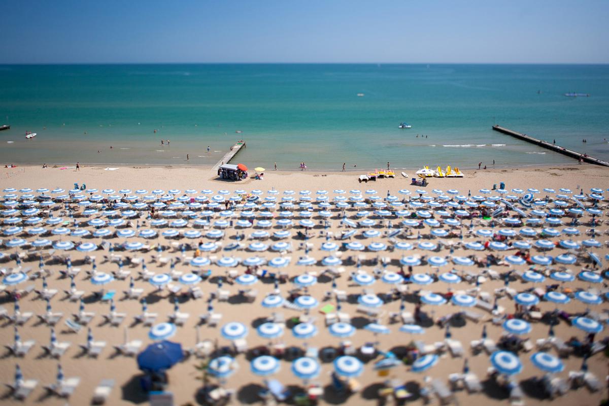 La spiaggia di Jesolo, da anni premiata con la Bandiera Blu