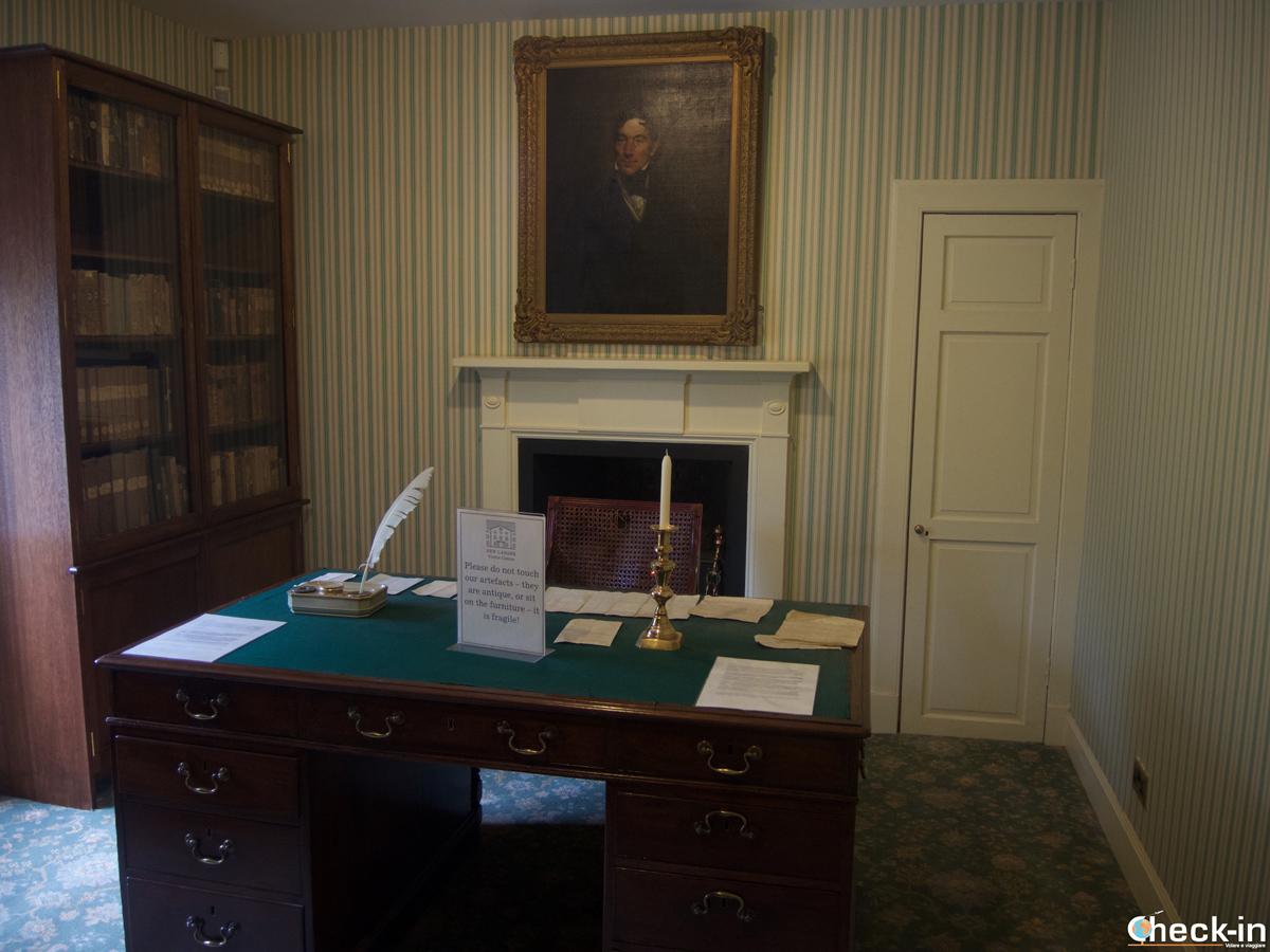 Lo studio nella casa di Robert Owen a New Lanark, Scozia