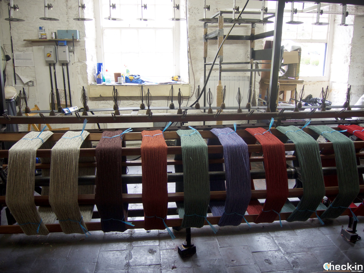 The wool spinnin machine in New Lanark Visitor Centre