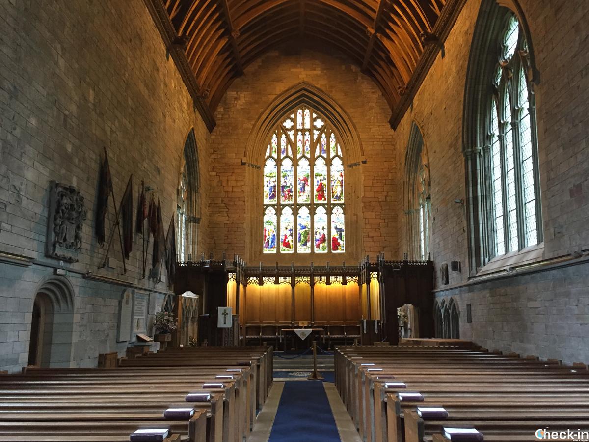 La navata centrale della Cattedrale di Dunkeld