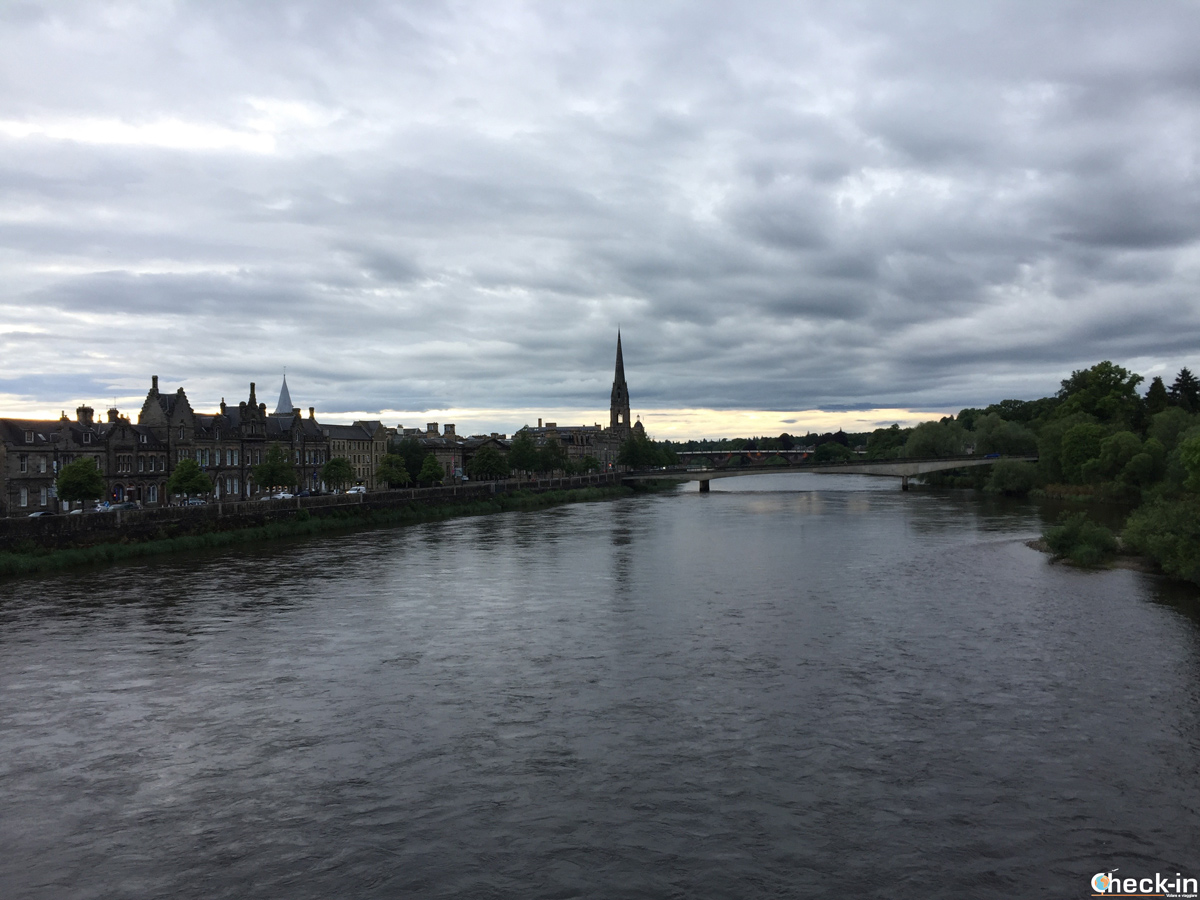 Perth vista dal West Railway Bridge