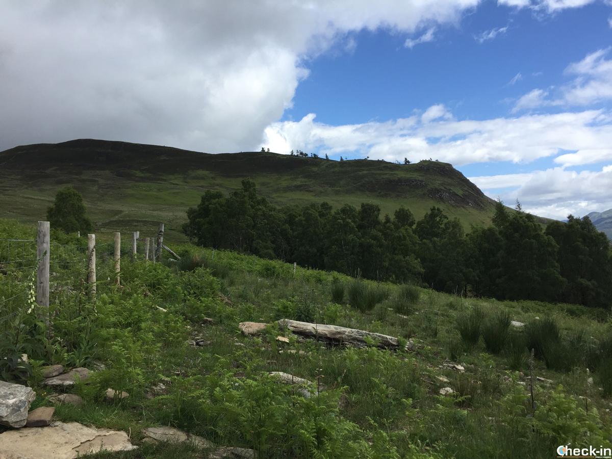 Vista di Craig Varr, Perthshire - Scozia