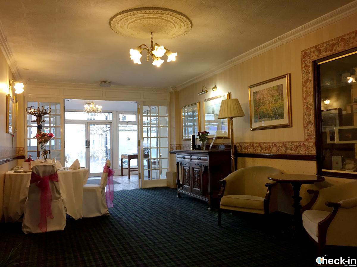 La reception del Grampian Hotel di Perth, Scozia