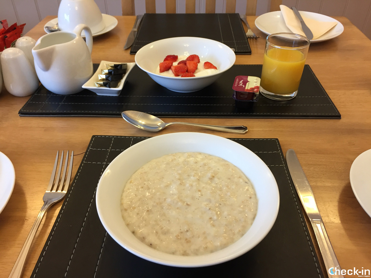 Colazione a base di porridge all'Heidl Guest House di Perth