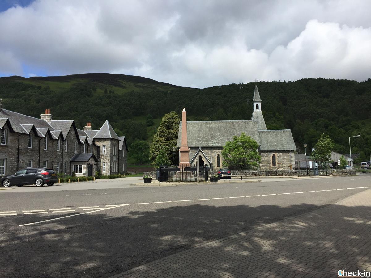 Kinloch Rannoch Square, punto di arrivo degli autobus da Pitlochry