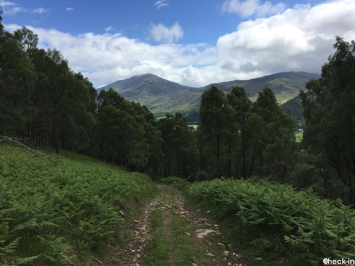 Camminata con vista del Schiehallion a Kinloch Rannoch, Scozia