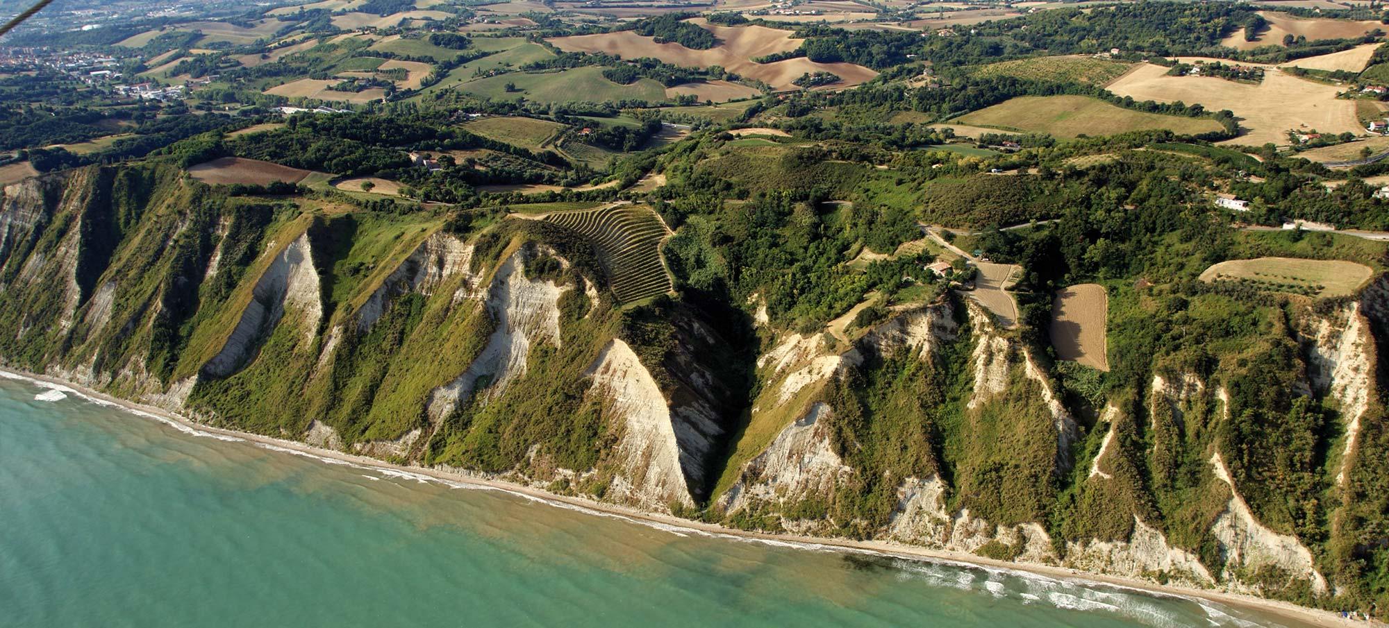 Scorcio della costa adriatica