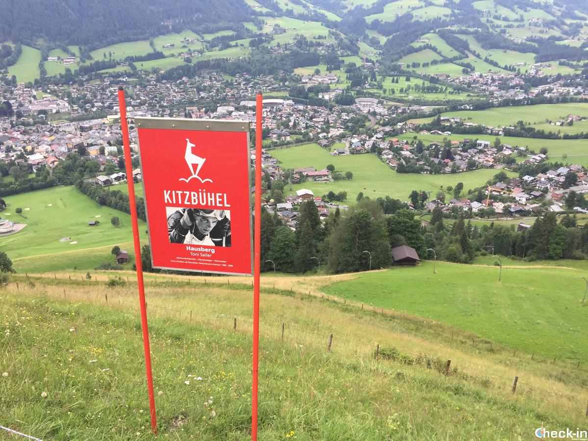 L'Hausberg sulla discesa libera della Streif di Kitzbühel, il tempio dello sci nel Tirolo austriaco