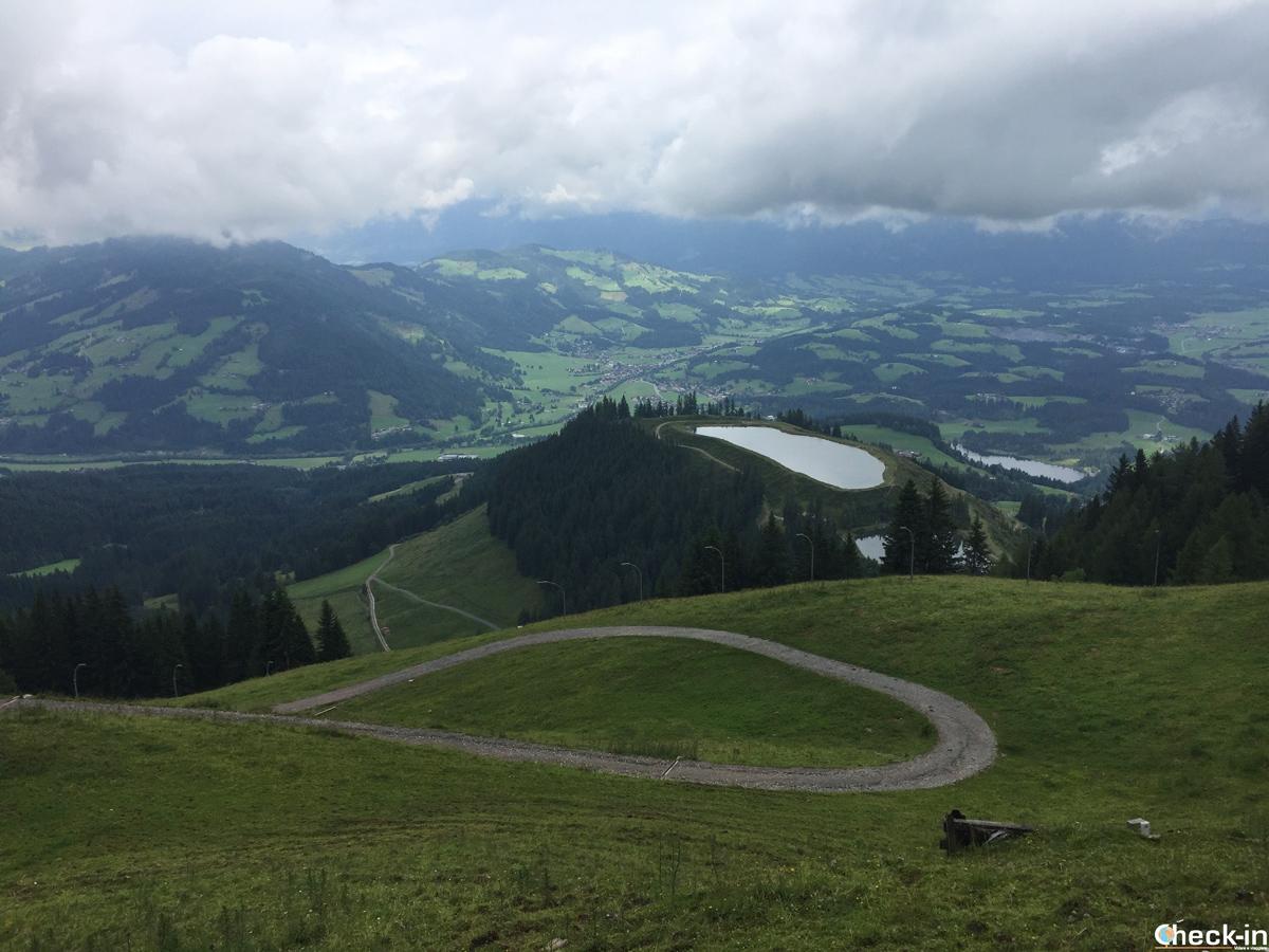 La Mausefalle all'inizio della discesa libera di Kitzbühel