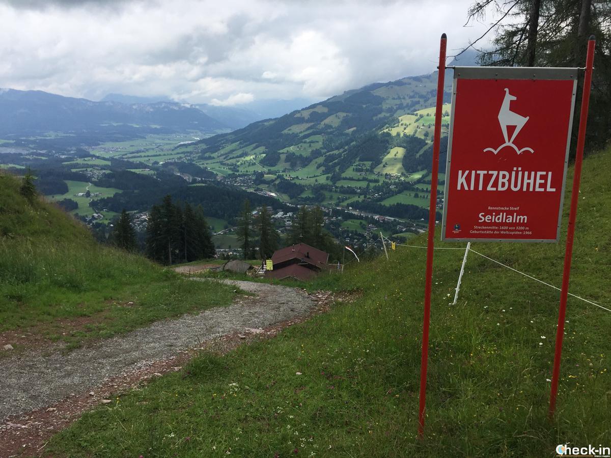 Il Seidlalm a metà della Streif di Kitzbühel