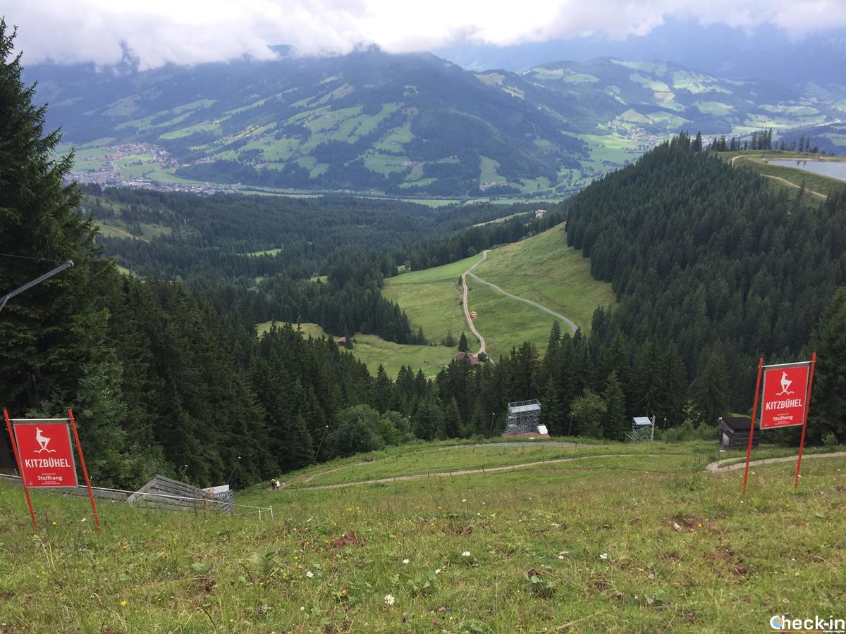 La Steilhang sulla Streif a Kitzbühel - Austria, Tirolo