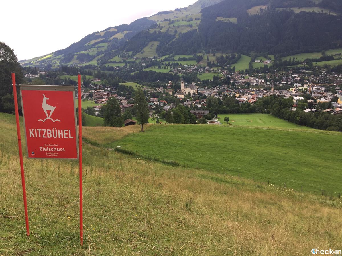 Lo Zierlschuss, il tratto finale della Streif di Kitzbühel