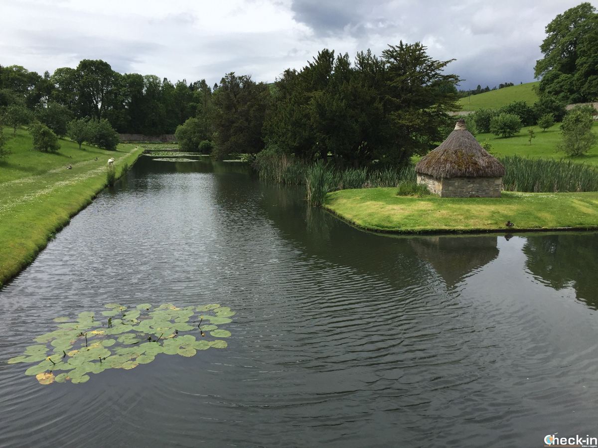Scorcio dell'Hercules Garden vicino al Blair Castle - Perthshire, Scozia