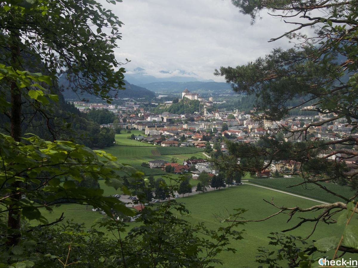 La Kufstein Festung vista dalla Kaisertalaufstieg