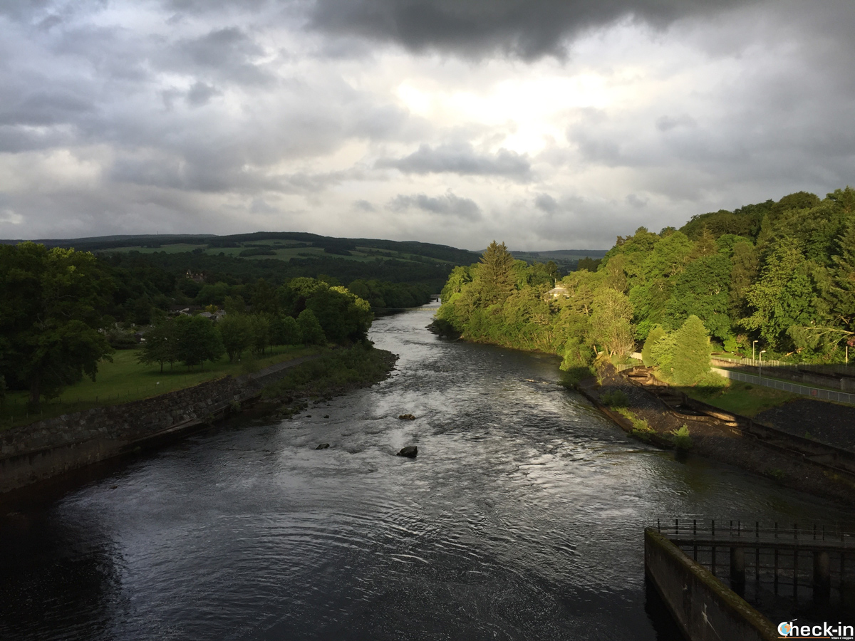 Overlooking river Tummel in Pitlochry - Highland Perthshire, Scotland