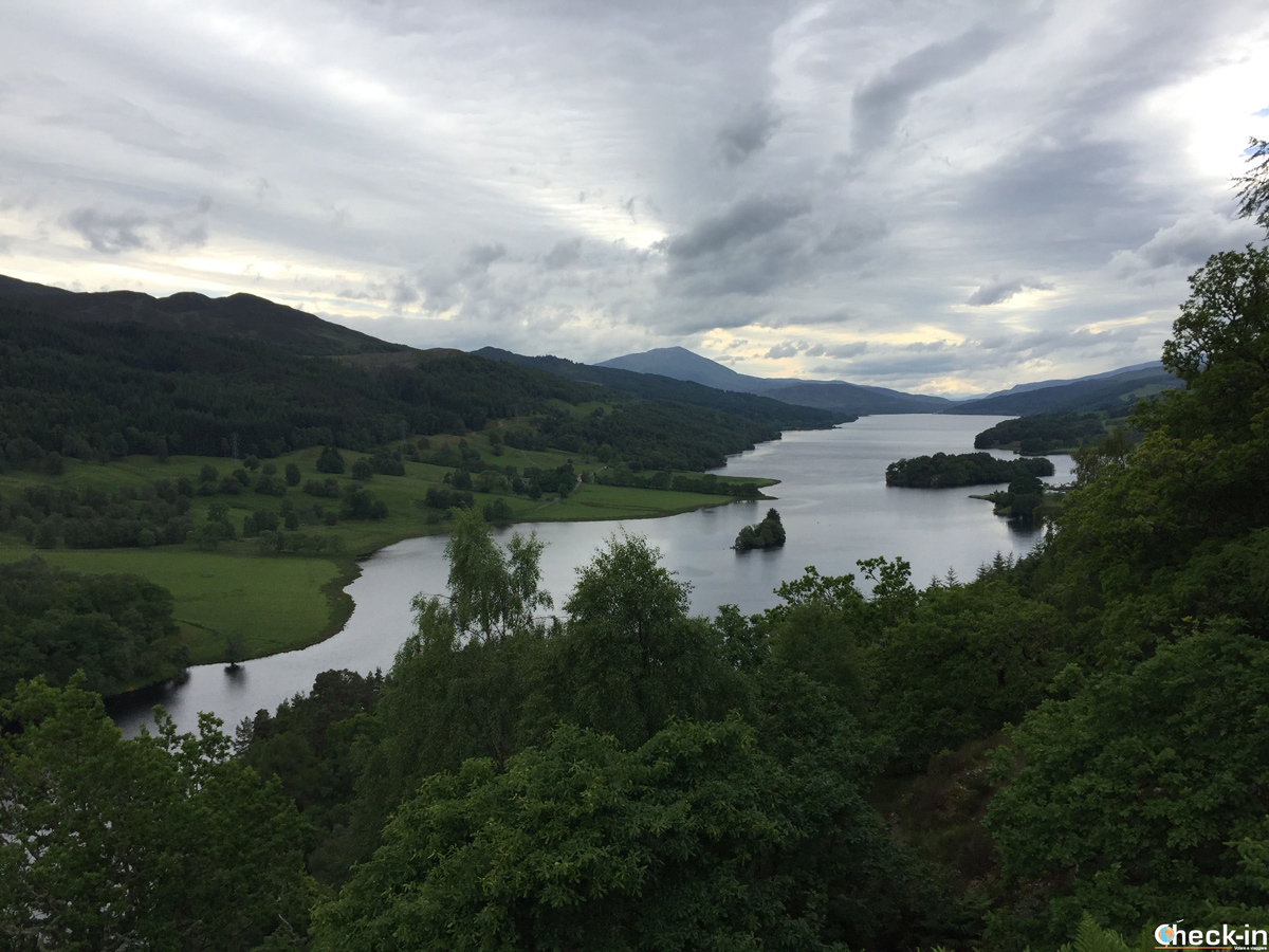 Queen's View in Perthshire, Scotland