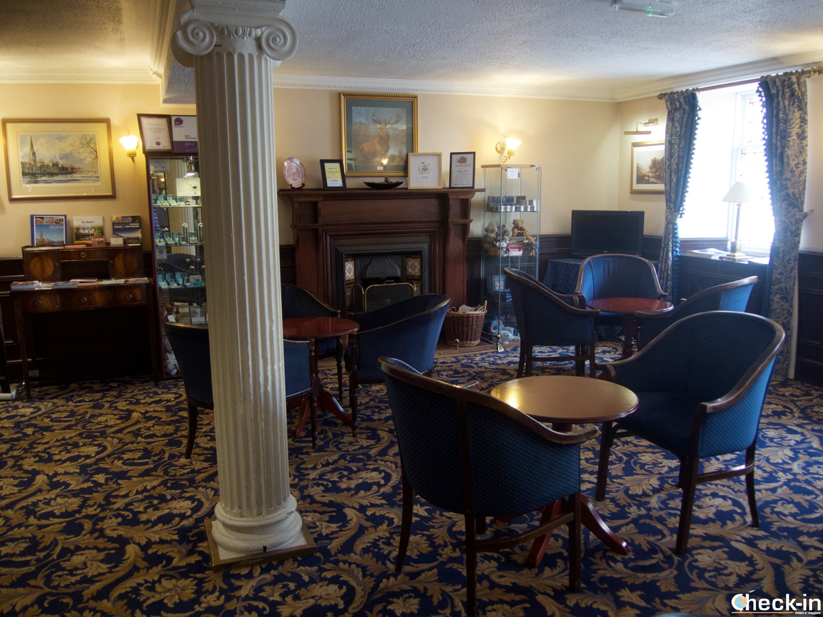 The reception of Salutation Hotel in Perth