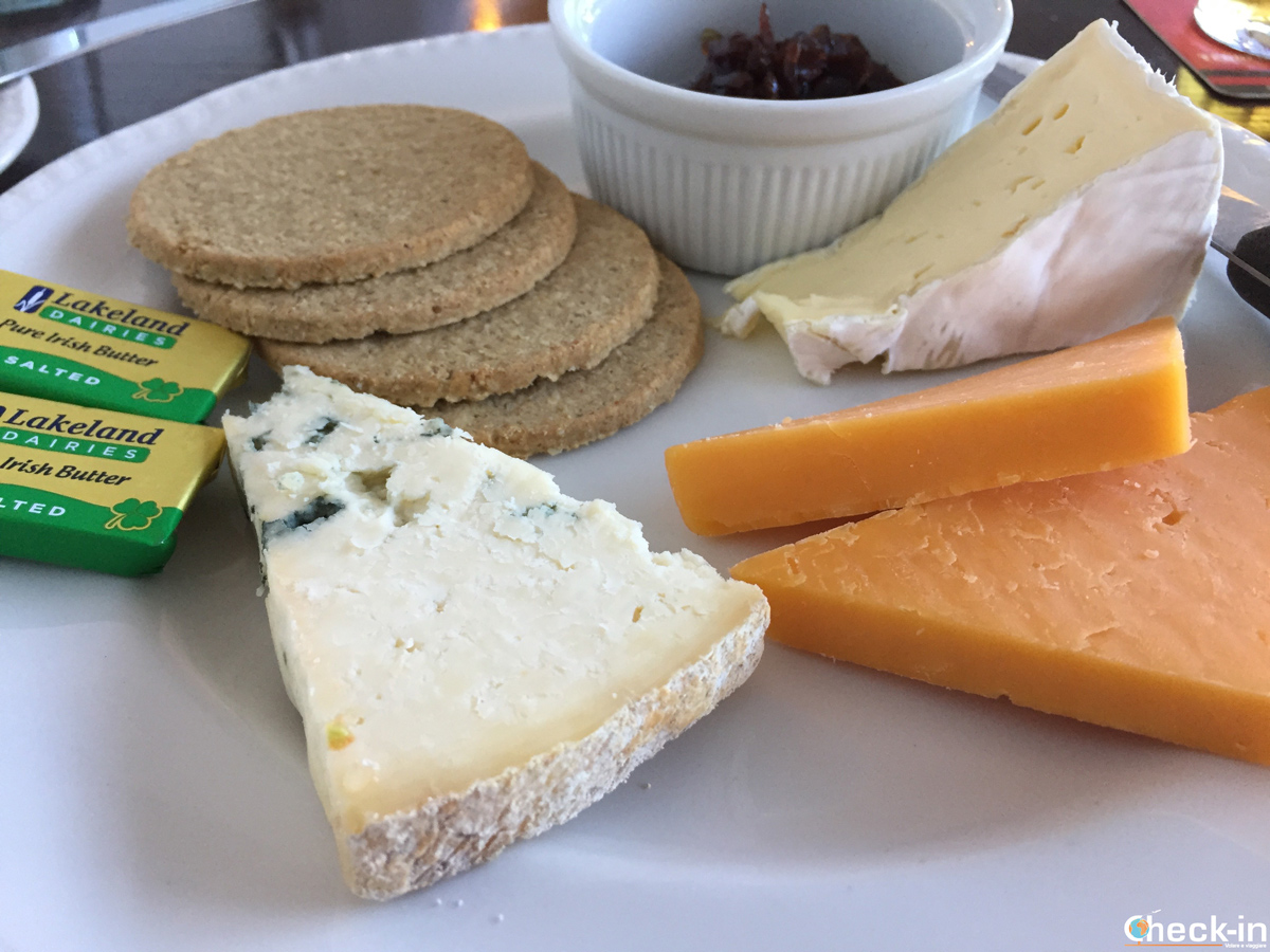 Variety of cheese as dessert at Castles Restaurant in The Grampian Hotel - Perth, Scotland