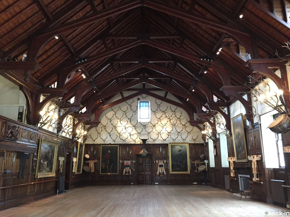 La sala da ballo nel Blair Castle
