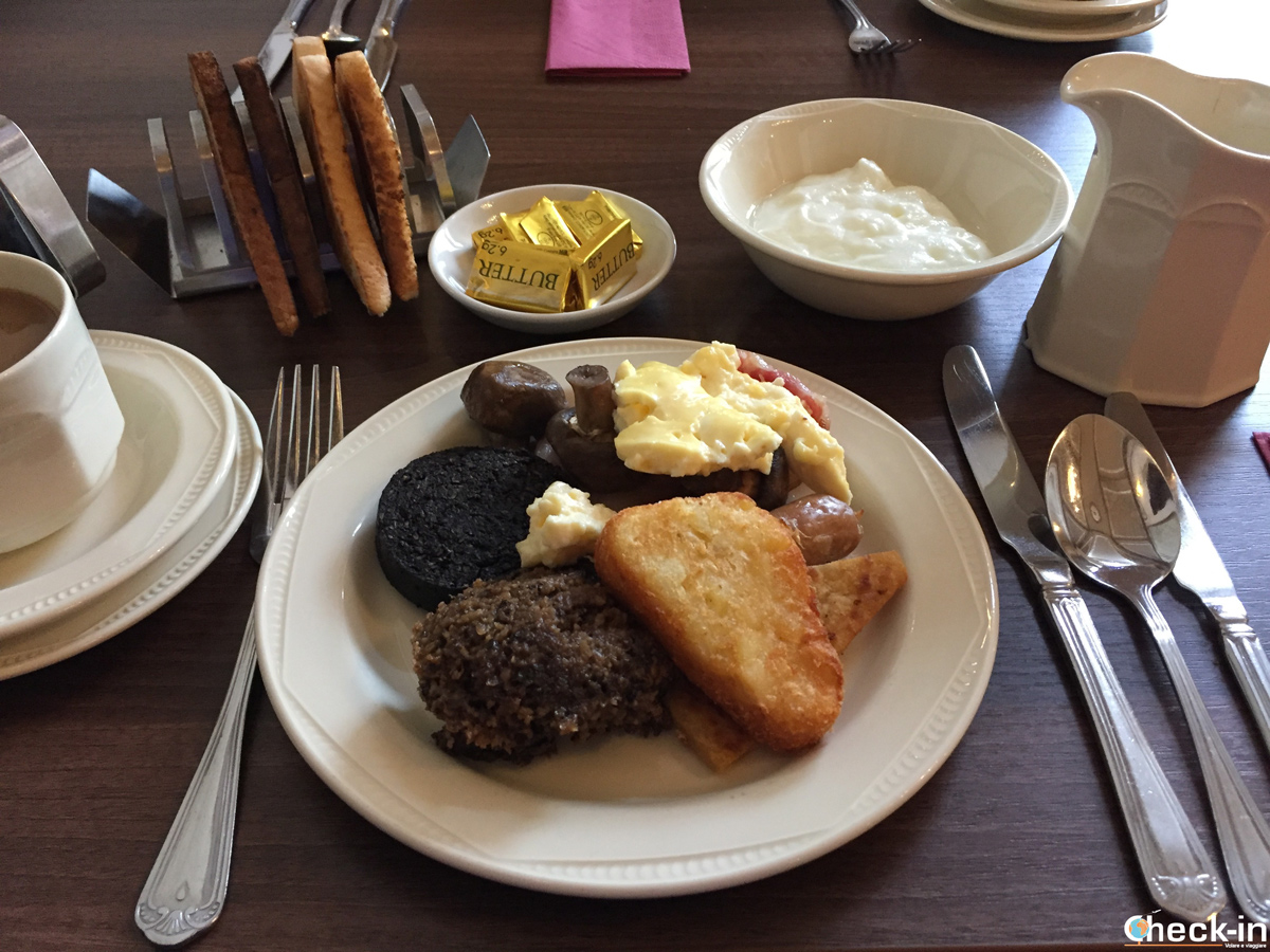 The breakfast served at The Salutation Hotel in Perth