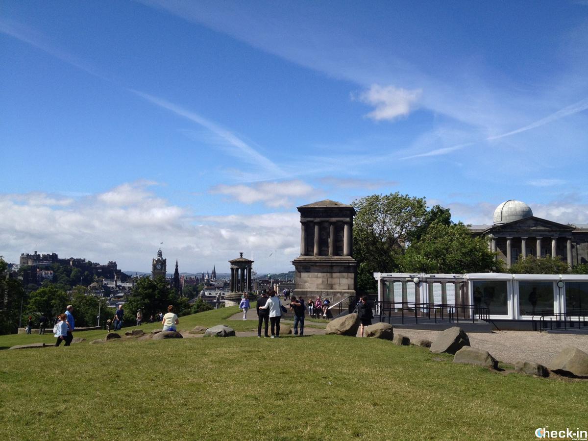 Il City Observatory di Calton Hill - Edimburgo, Scozia